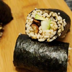 brown rice tempeh sushi