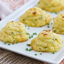 cheddar and chive duchess potatoes