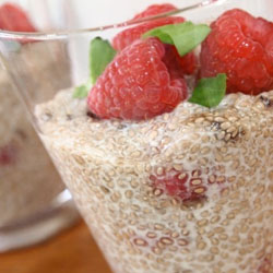 chia raspberry pudding