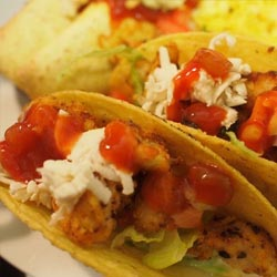 crispy chicken tacos