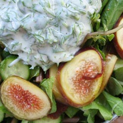 green fig salad yoghurt
