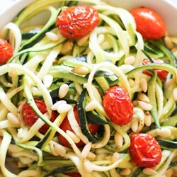 lemon garlic zucchini noodles