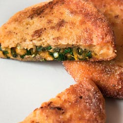 pumpkin and kale stuffed patties