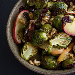 roast brussel sprouts and apples