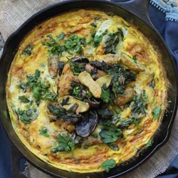 roast fingerling potatoes winter green fritatta