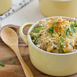 roast poblano mac and cheese