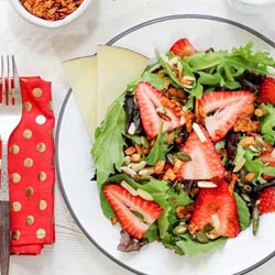 strawberry salad coconut bacon