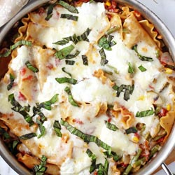 summer vegetable skillet lasagne
