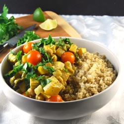 tofu curry chickpeas summer vegetables