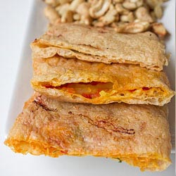 vegan abura age pizza pocket