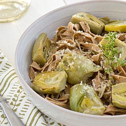 whole wheat artichoke fettecini